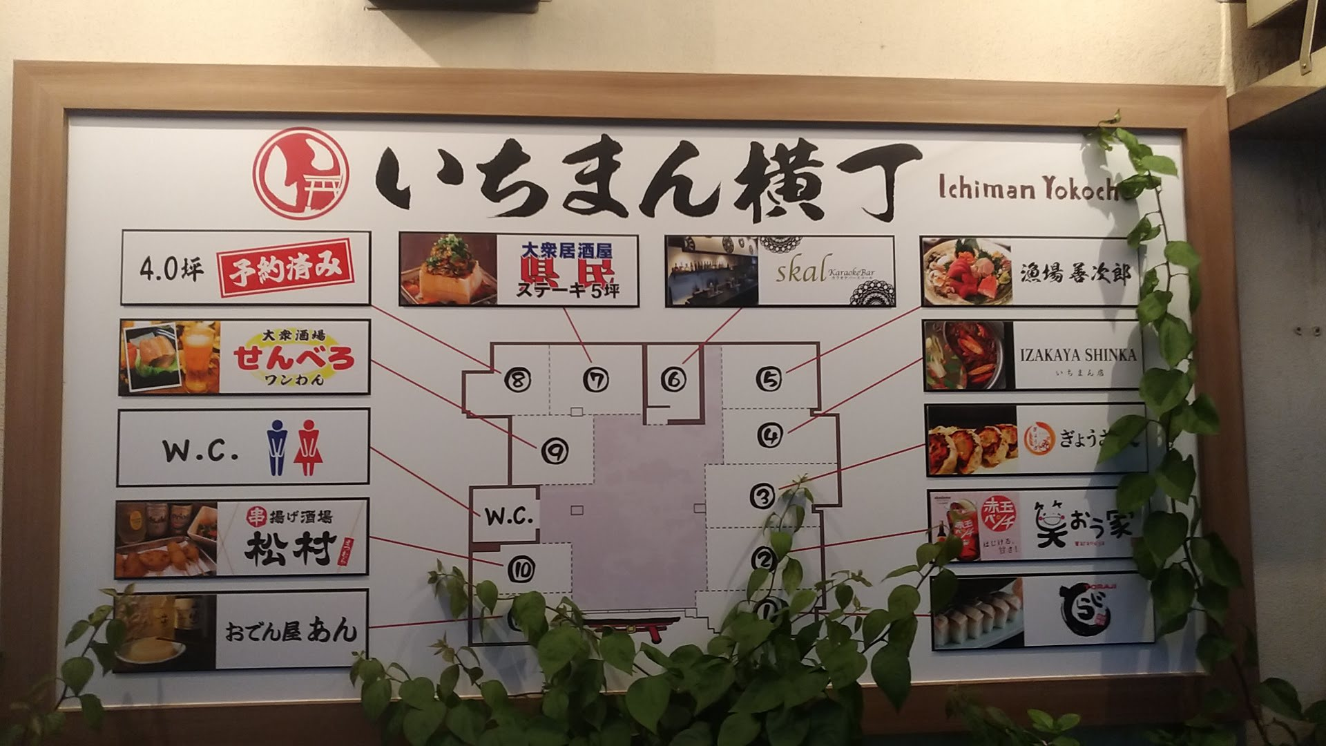 a guide map of each stall