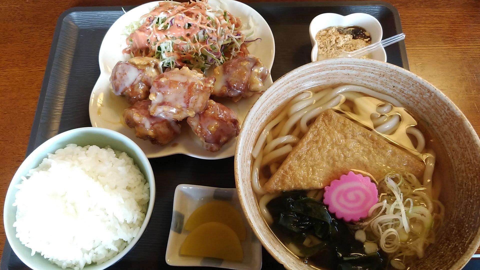 Chicken Nanban Udon Set Meal