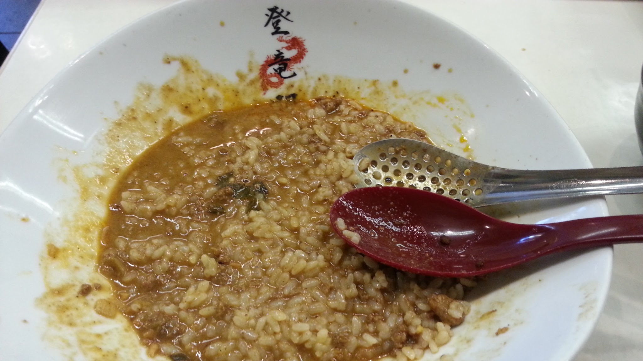 I added rice to the remaining sauce and tried to eat it like a risotto