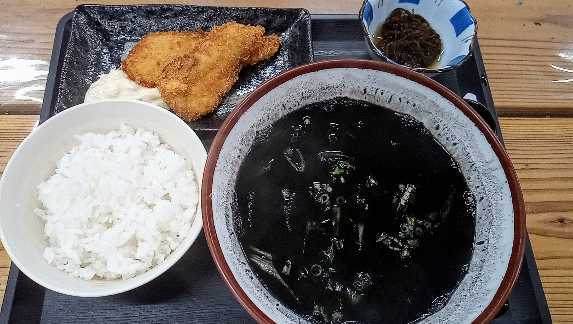 squid ink soup set meal