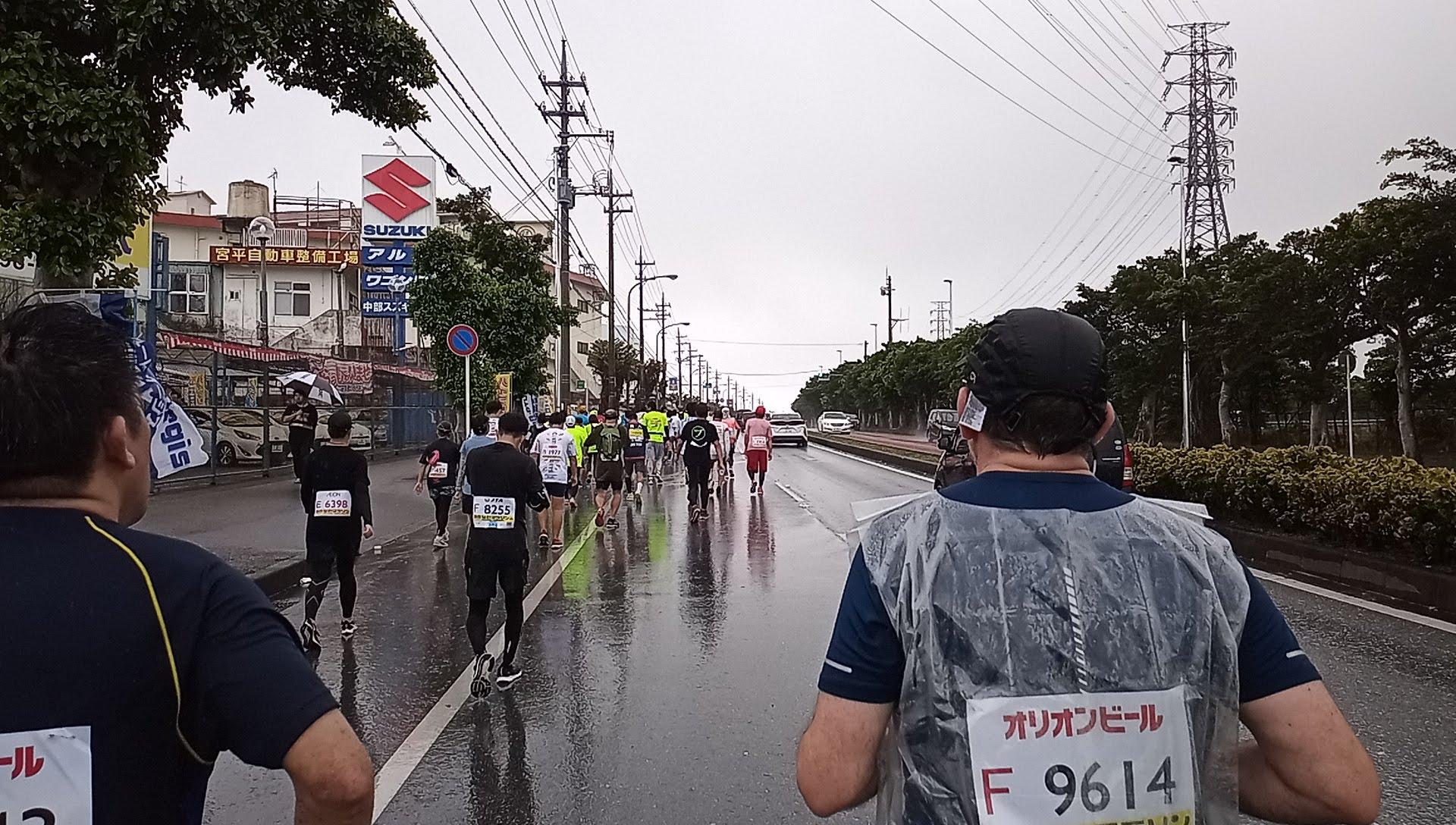 沖縄マラソンスタート27㎞付近の上り坂